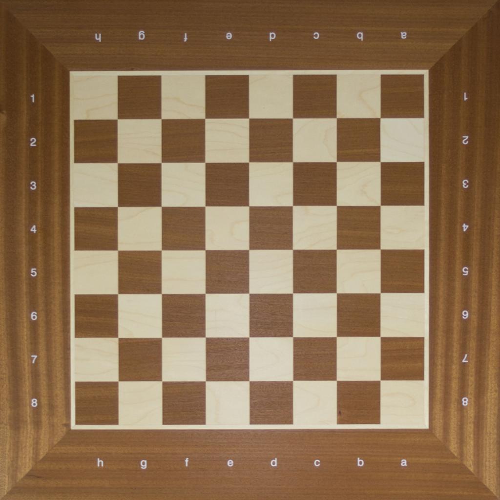 Das normale Schachbrett auf der Rückseite
